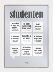 Citat-plakat målrettet studenter