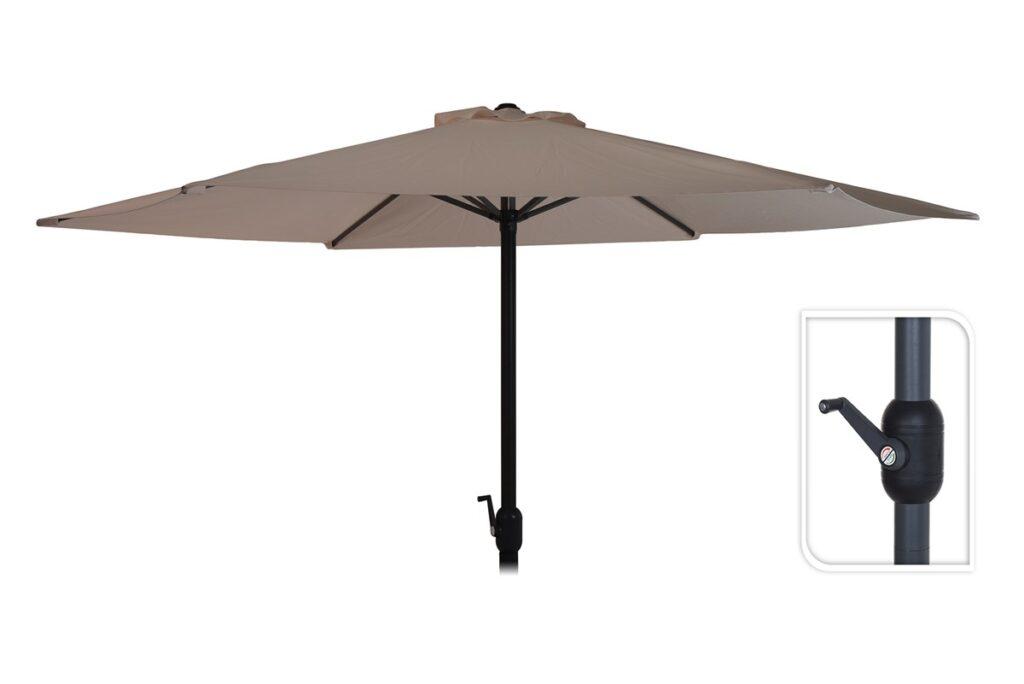 Billig parasol i polyester og flere farver