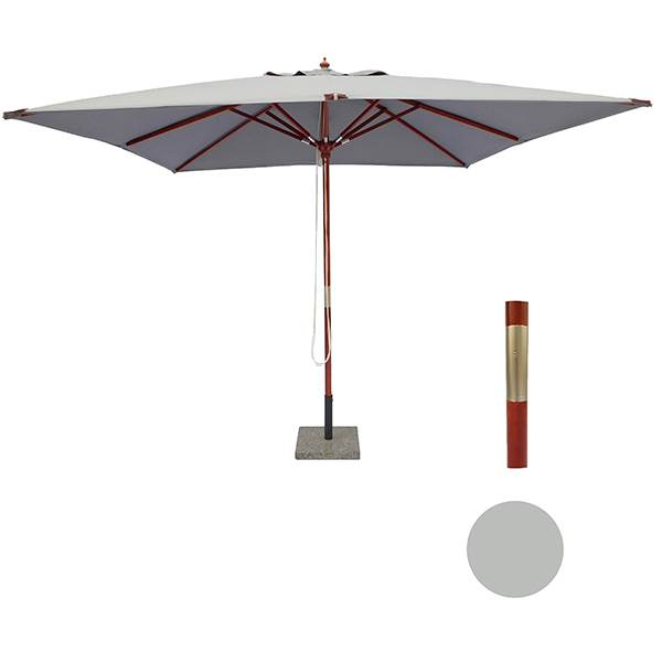 elegant parasol på 3x3 meter