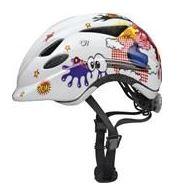 farverig cykelhjelm til børn